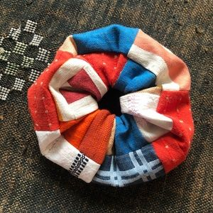 ace&jig jumbo scrap scrunchie in Patriot Berry